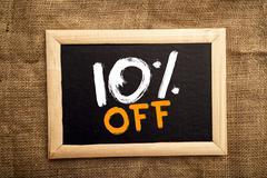 Ten percent off Stock Photos