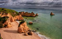 Dona ana beach, lagos, portugal Stock Photos