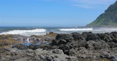 Crashing Oregon Waves Stock Footage
