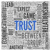 Text cloud background depicting trust Stock Illustration