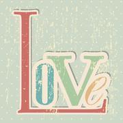 Love card over grunge background vector illustration Stock Illustration