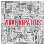 viral hepatitis concept in word tag cloud design - stock illustration