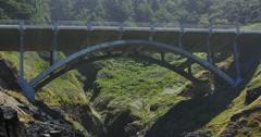 Cooks Chasm Bridge Coastal Oregon Stock Footage