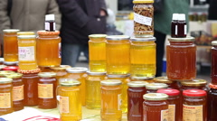 Natural Honey for Sale Stock Footage