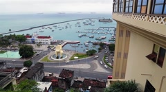 Famous View from Lacerda Elevator on Pelourinho in Salvador, Brazil Stock Footage