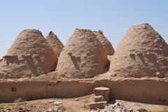 Beehive desert houses Stock Photos