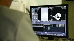 Veterinarian doctor working Stock Footage