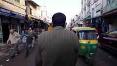 POV Timelapse of Rickshaw Ride Through the Streets of New Delhi, India Stock Footage