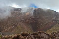 vesuvius crater - stock photo