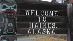 Welcome To Haines Fast Zoom Left Stock Footage