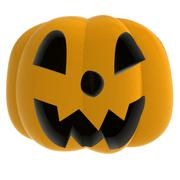 cropped autumn pumpkin shouting on white illustration - stock illustration