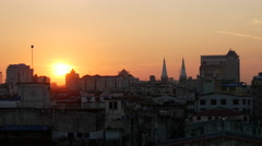Stock Video Footage of Sunset time lapse in Yangon, Myanmar, Burma