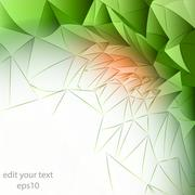 Stock Illustration of abstract floral blossom triangular wall structure template  illustration