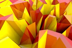 Abstract autumn triangular three dimensional shape closeup background Stock Illustration