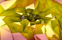 Abstract colorful autumn triangular three dimensional shape background Stock Illustration