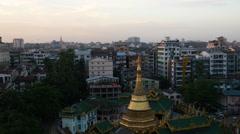 Shwe Phone Pwint Pagoda in Yangon, Myanmar, Burma Stock Footage