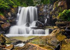 Upper Laurel Creek Falls Stock Photos