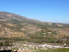 Cemetary on bushy hills near Fes Stock Photos