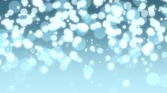 Light blue Christmas bokeh - stock footage