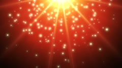 Gold lightrays on red Stock Footage