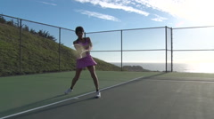 SLOW: Woman playing tennis-1080p ProRes422 Stock Footage