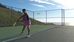 Woman playing tennis-1080p ProRes422 Stock Footage