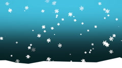 falling snowflakes on blue gradient - stock footage