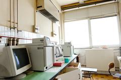 Old vintage computer in laboratory Kuvituskuvat