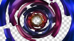 Color Circles Broken Travel 1080p with alpha Stock Footage