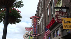 Neon signs broadway, nashville bars, tn, usa Arkistovideo