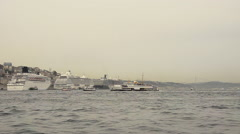 Urban marine transportation in Istanbul Stock Footage