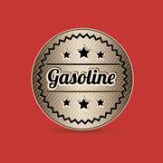 Stock Illustration of illustration of the gasoline industry, gasoline stations label, vector