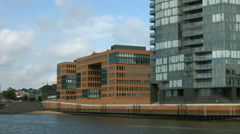 Hamburg waterfront offices Stock Footage