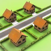 Modern development projects for satisfied life illustration Stock Illustration
