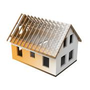 Stock Illustration of house structural two section blend transition illustration