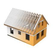 Stock Illustration of isolated house design blend transition illustration