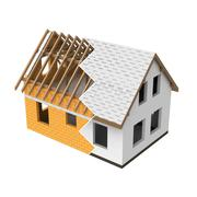isolated new house structural  design zigzag transition illustration - stock illustration
