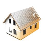 Stock Illustration of isolated house structural design blend transition illustration