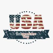 illustration patriot united states of america, usa poster, vector illustration - stock illustration