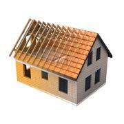 Stock Illustration of isolated brick house design schema blend transition illustration
