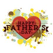 Illustration for dad, happy father's day, vector illustration Stock Illustration