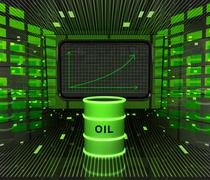 business positive graph forecast or results in fuel industry illustration - stock illustration