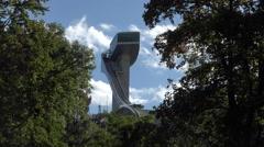 Innsbruck Austria 1976 winter Olympic ski jump tower 4K 039 Stock Footage