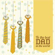illustration for dad, happy father's day, vector illustration - stock illustration