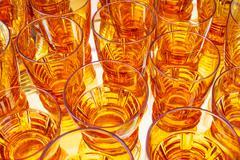 Vintage orange alcohol glasses Kuvituskuvat