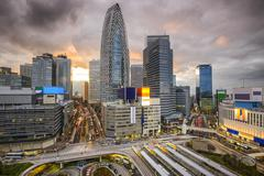 Shinjuku, tokyo, japan cityscape Stock Photos