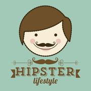 Illustration of hipster culture or father's day, vector illustration Stock Illustration