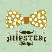 illustration of hipster culture or father's day, vector illustration - stock illustration