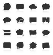 Set of speech bubble icons on white background - stock illustration