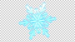 Rotating Snowflake 1 + Alpha Channel + Loop Stock Footage